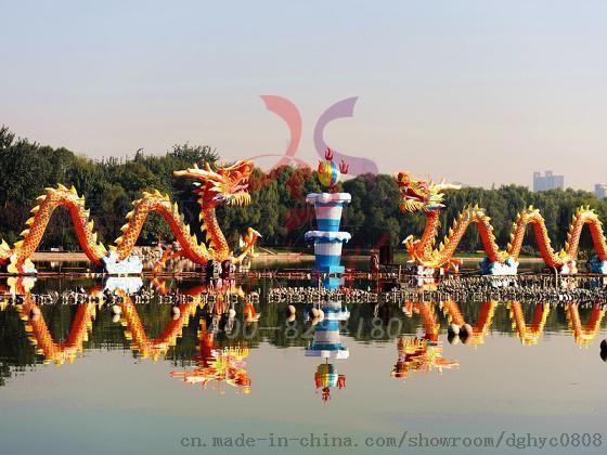 自贡传统手工制作龙舟彩灯花灯灯会
