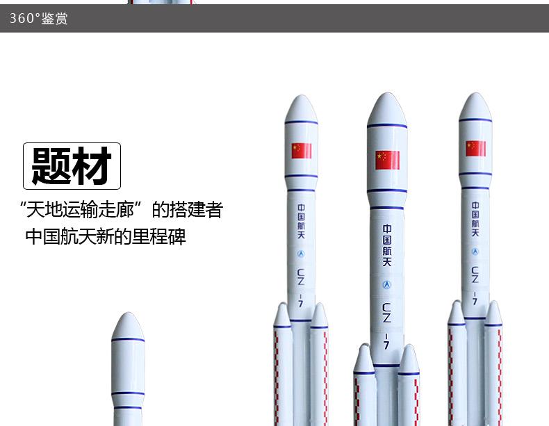 1:35长征七号运载火箭模型制作