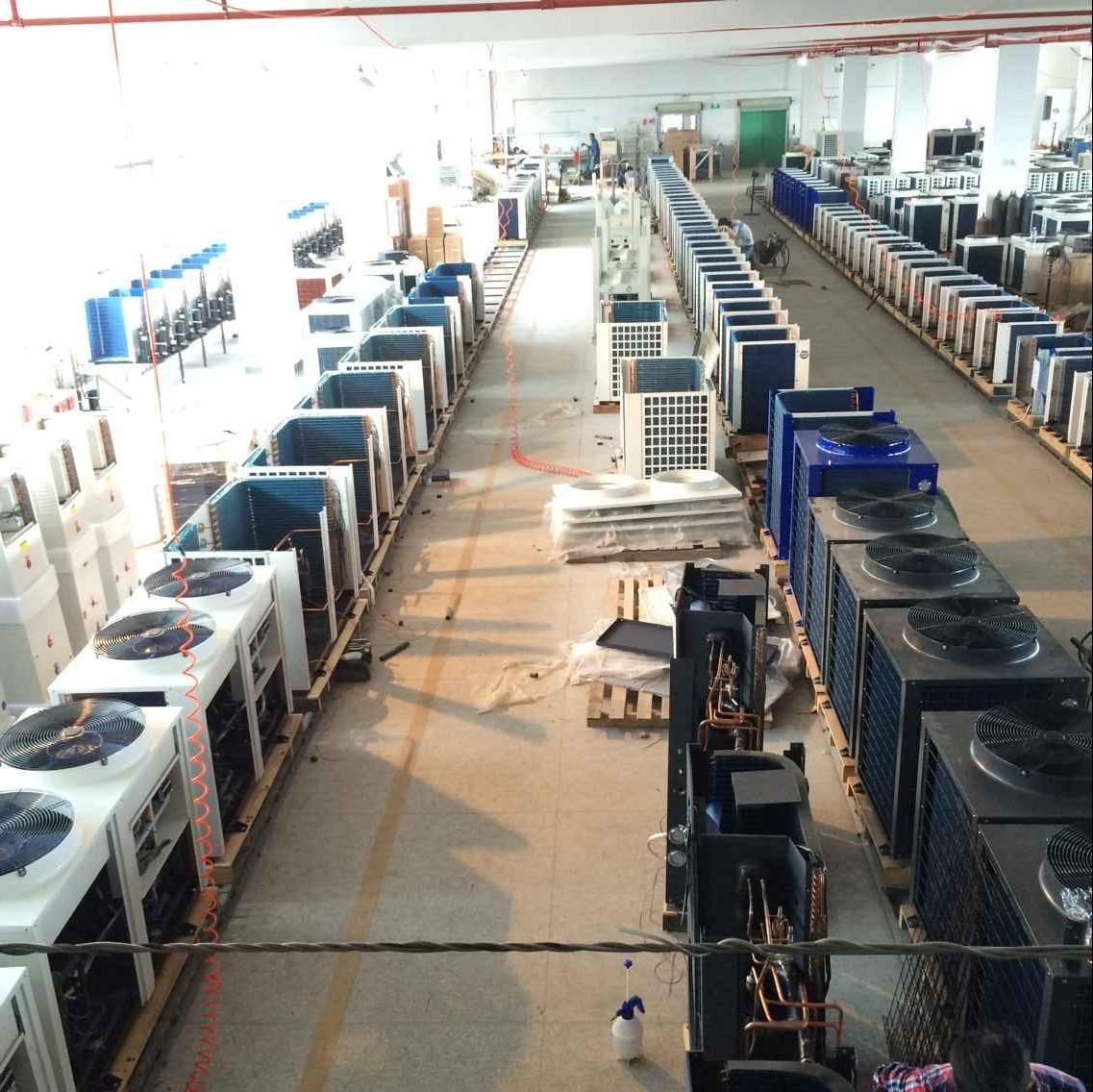 东莞格瑞沃25匹超低温空气源热泵热水器三联供机组 暖气热水冷气三图片