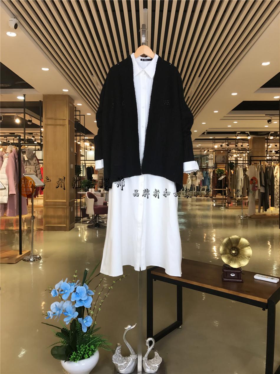 品牌折扣女装新款春装艾沸17品牌折扣女装厂家直销走份批发