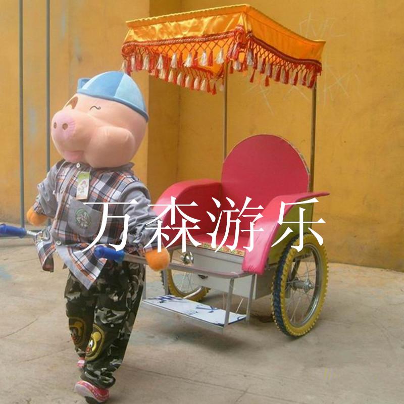 万森机器人拉车 卡通玩偶拉车 可爱动物拉车