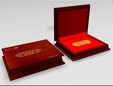 做高档喷漆木盒包装盒真皮座套纪念币漆盒银金币金币多少钱图片