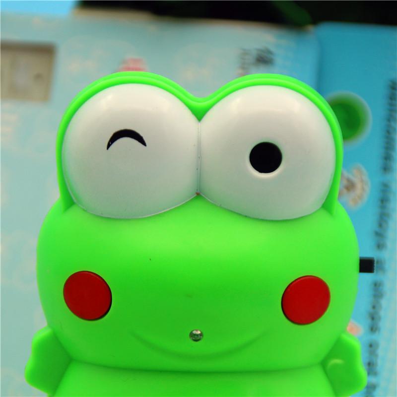 迎宾器 可爱青蛙叮咚.装3节7号电池你好欢迎光临迎宾器门铃
