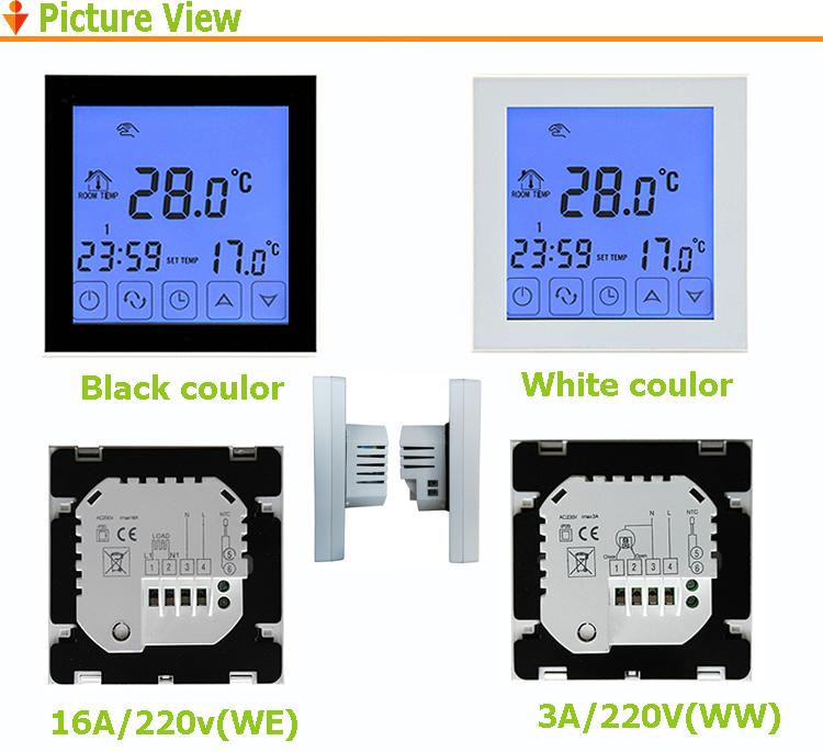 碳晶墙暖地暖温控器 】  适用范围适用电动球阀,电动阀,电热阀,电磁阀图片