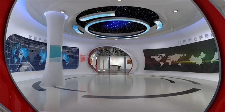 专业东莞展览制作工厂 创意时尚展厅 书画展厅 商业空间展示设计图片