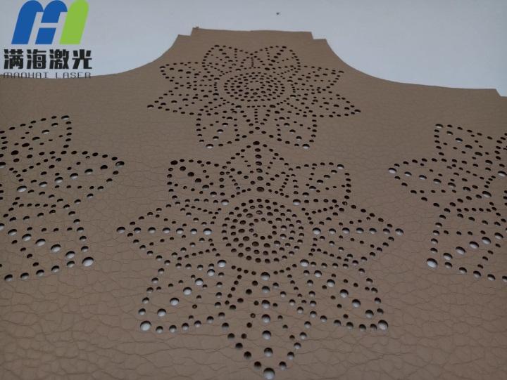 深圳手提包皮革面料激光刻穿激光镂空加工-满海激光雕刻