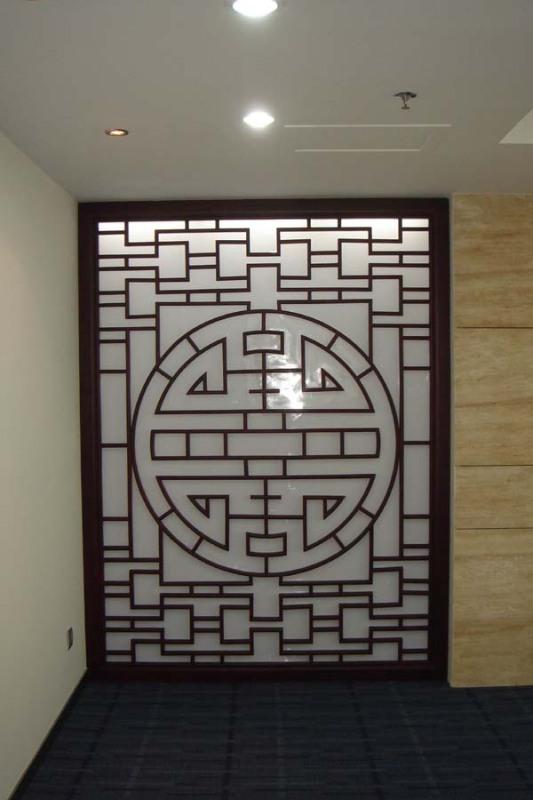 1350仿古室内对开仿古木花格门北京厂家直销隔断屏风