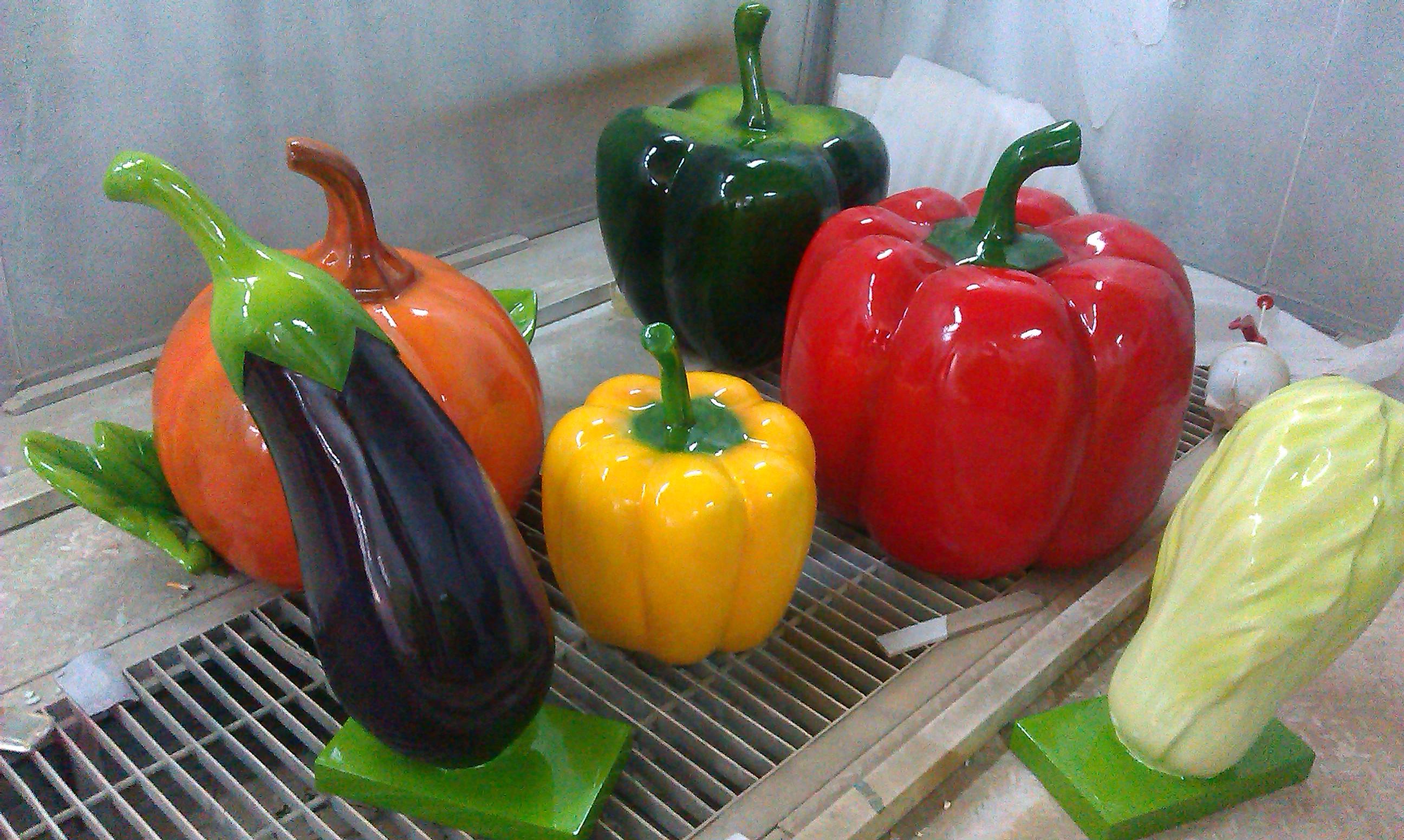 玻璃钢现代农业主题公园多种蔬菜造型摆设雕塑定做厂家