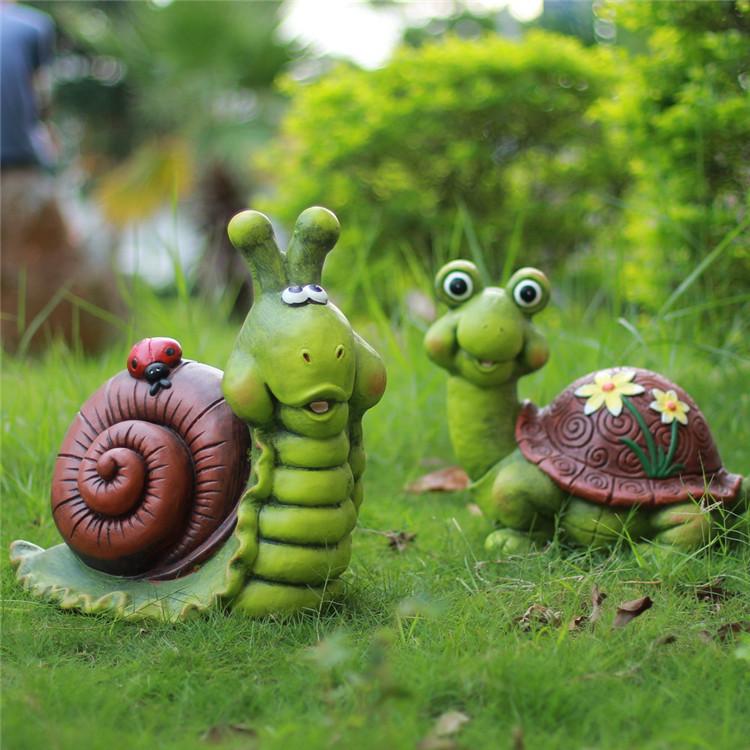 深圳欧泰斯艺术雕塑树脂工艺品园林摆饰卡通动物雕塑乌龟蜗牛