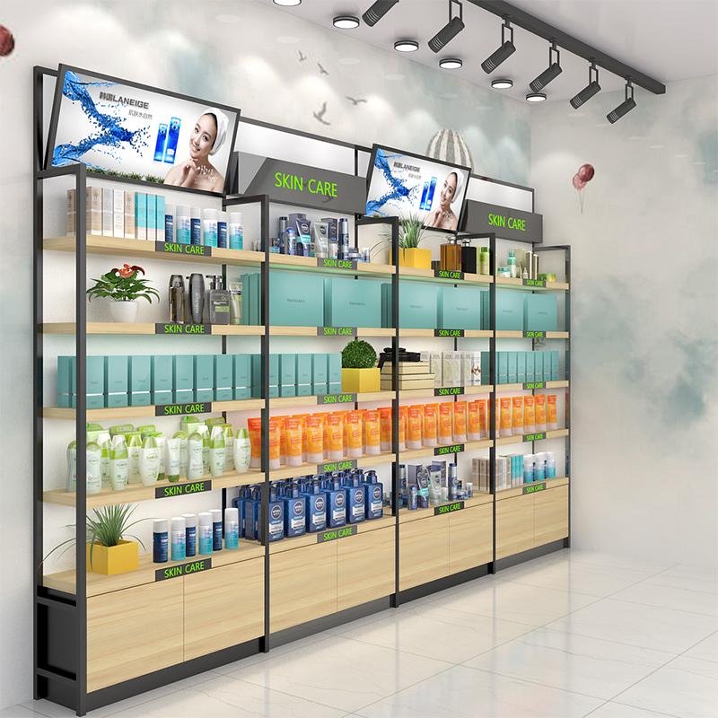 货架展示架护肤品展柜产品展示柜母婴店美容院货柜图片