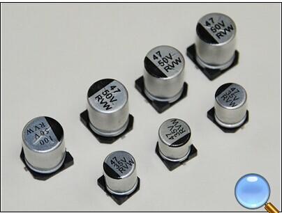 rvw长寿命贴片电解电容/smd贴片电解电容