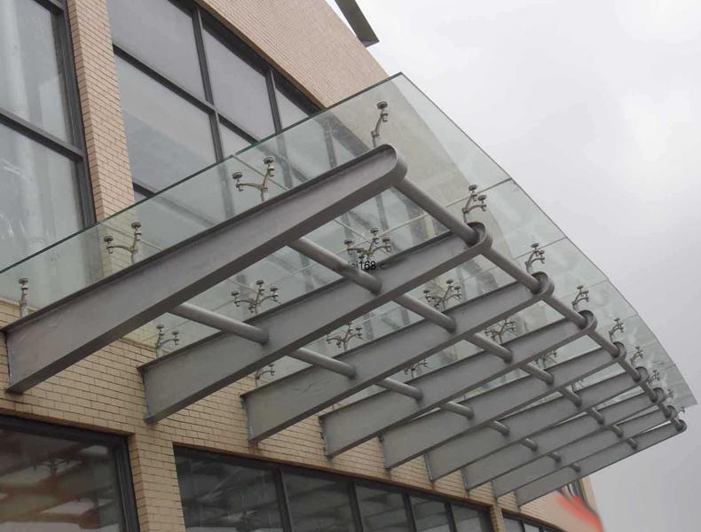 珠海专业承接玻璃雨棚工程