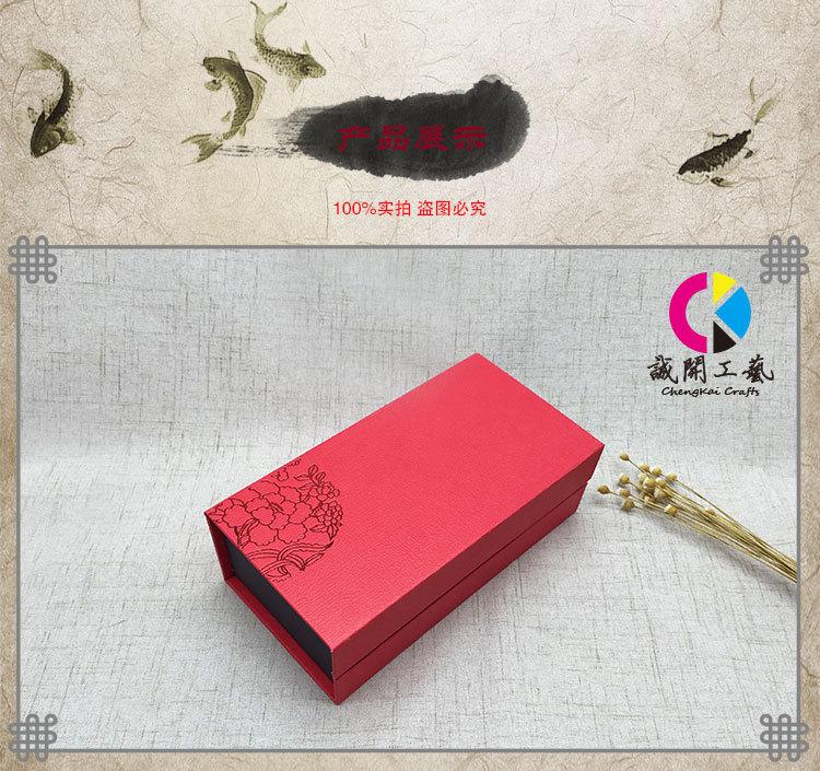 礼盒定制高档书本包装盒烫金翻盖衬衣式茶叶显瘦纯棉厂家图片