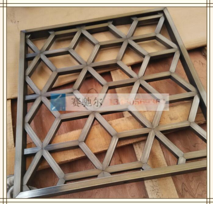 深圳专业生产不锈钢高档屏风,赛尔天津古铜不锈钢扣边花格屏风,南京