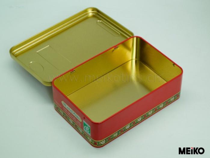 厂家定制 长方形马口铁盒 曲奇饼干铁盒 食物礼品包装图片