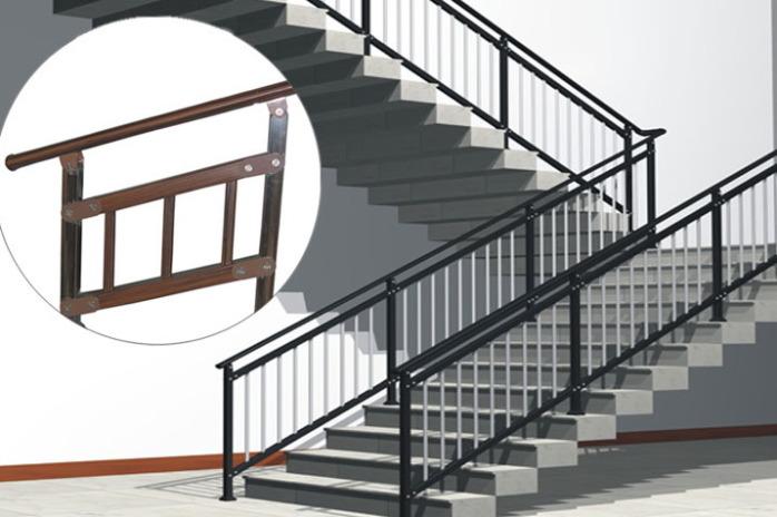 手绘楼梯透视图