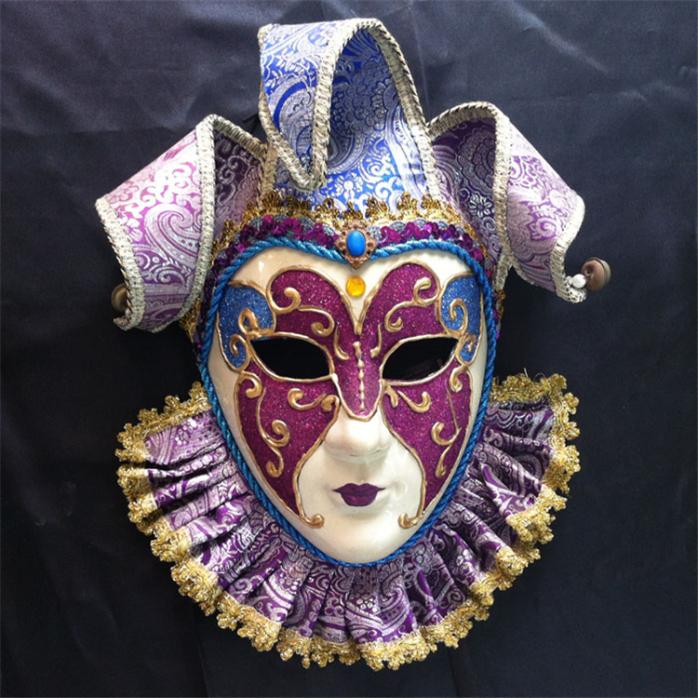 厂家直销新款威尼斯风格手绘面具节日派对面具批发