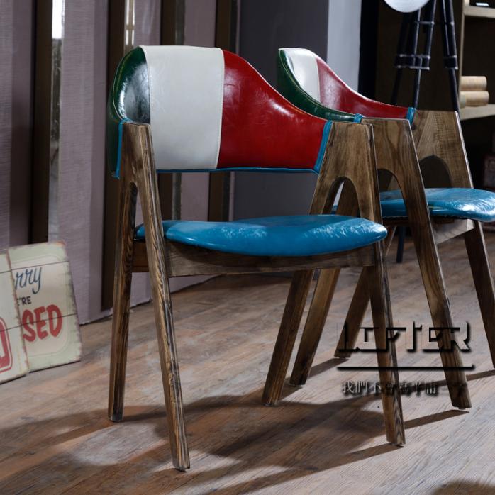 loft个性复古咖啡店桌椅主题西餐厅桌椅奶茶店甜品店