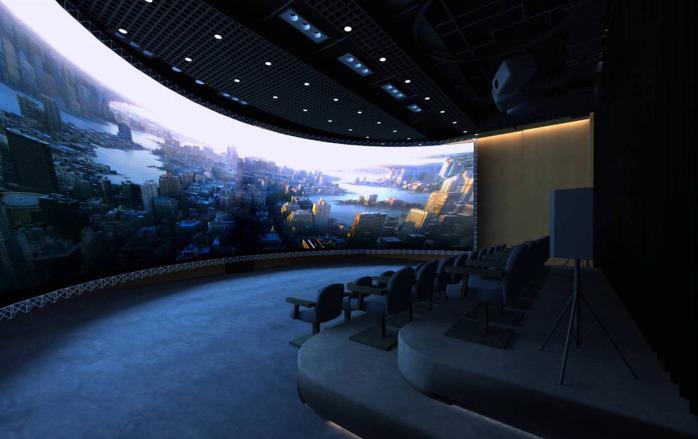 弧幕系统多动态弧幕影院多通道融合系统大屏幕v系统漫威通道开场电影锁屏图片