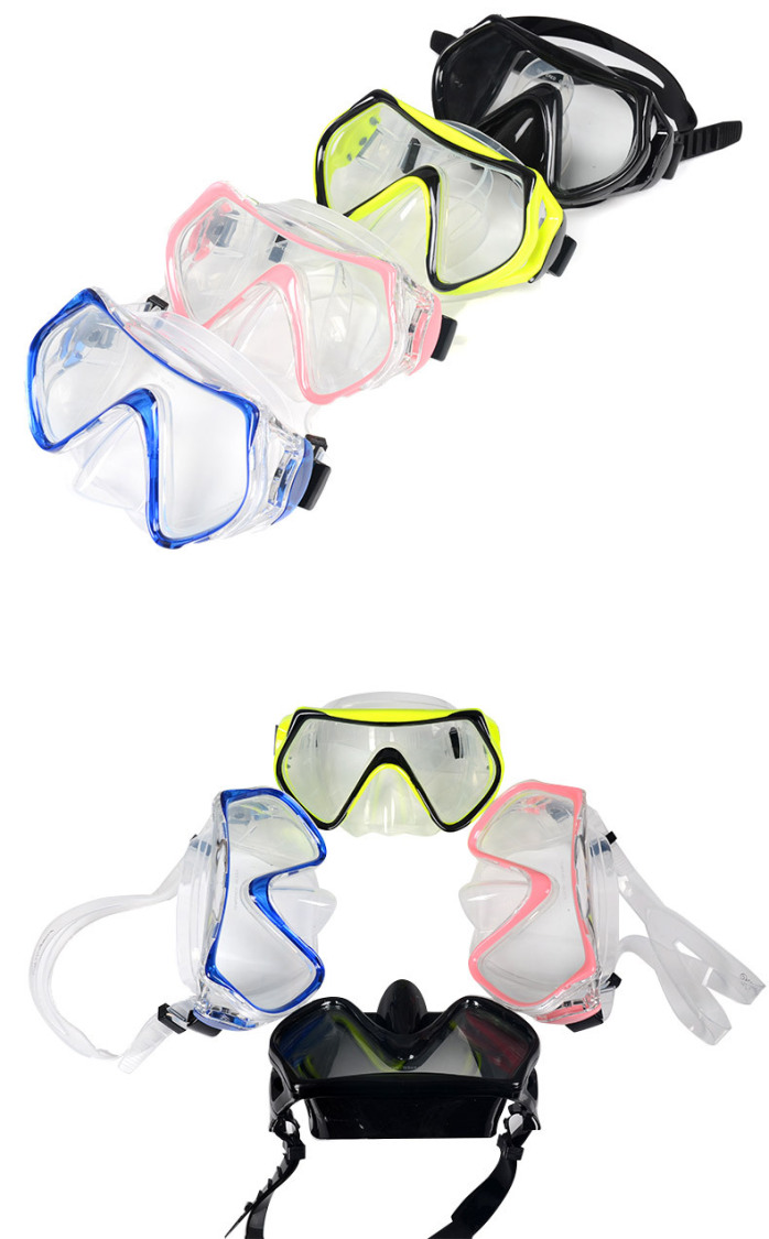浮潜装备_成人 潜水套装 面镜 大框液态硅胶潜水镜 浮潜装备 潜水装备