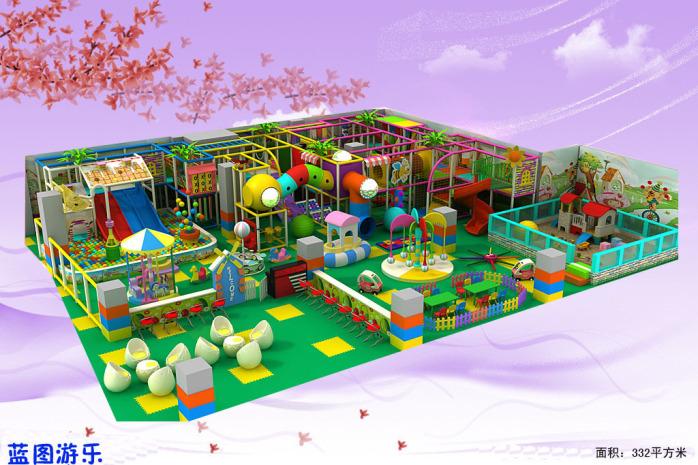 室内儿童乐园淘气堡滑梯