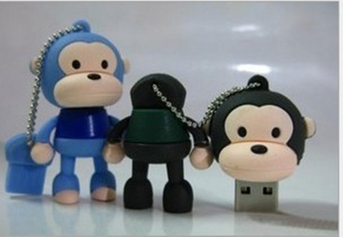 睿祥腾工厂直销大嘴巴u盘 个性猴子u盘 迷你可爱广告促销礼品可印logo