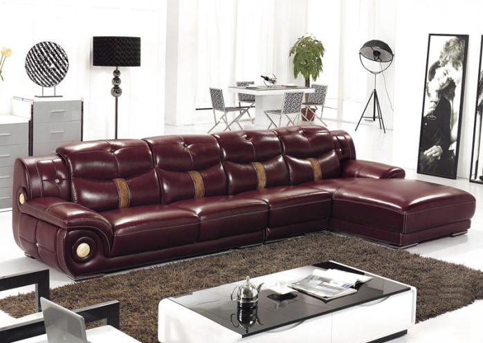 中式牛皮沙发工厂直销 客厅休闲真皮沙发 热销款 颜色图片