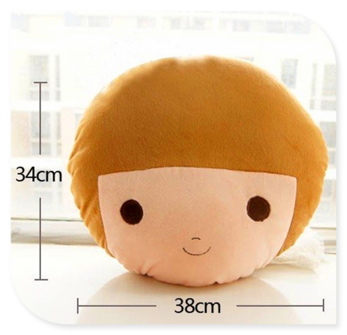 定制可爱娃娃脸抱枕 卡通人物头像毛绒公仔 创意礼品玩偶