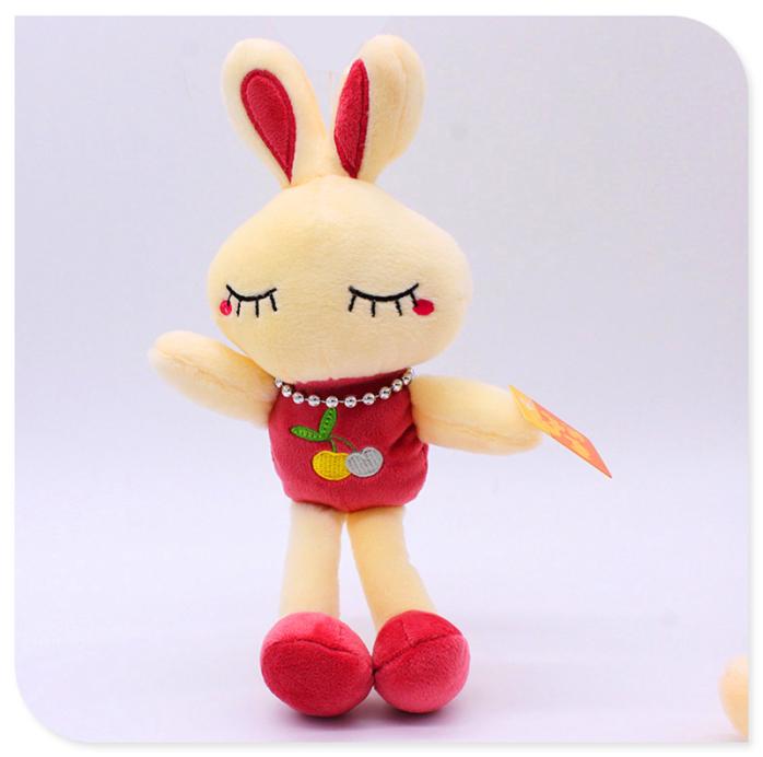 可爱兔子水果兔毛绒玩具米菲兔love兔小白兔布娃娃