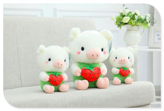 可爱水果麦兜猪公仔 小猪毛绒玩具布娃娃玩偶