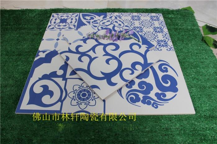 青花瓷瓷砖300*300 艺术仿古拼花地砖