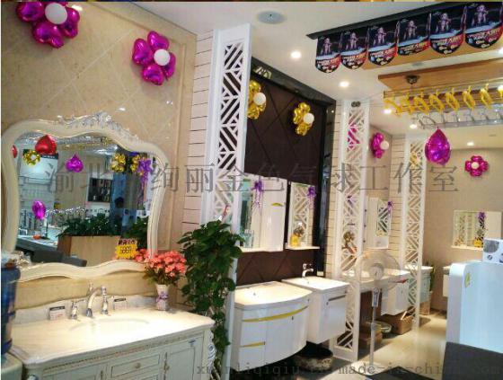 铺面门面美容院等商场店面活动橱窗促销店内门口装饰