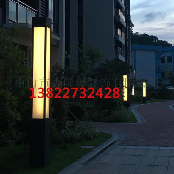小区广场景观灯柱户外园林市政道路景观庭院灯方灯仿云石中式3米高杆图片