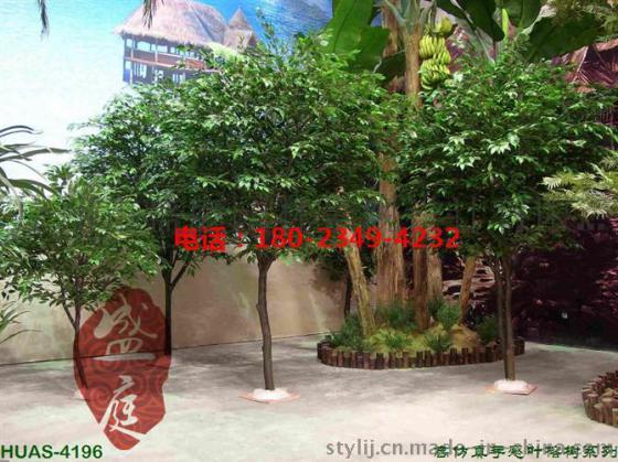 餐厅人造景观假榕树植物