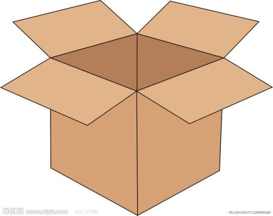 纸箱拉手矢量图