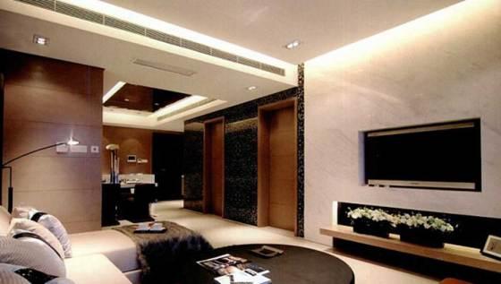 青島一號家居網裝飾遠洋風景二期87平效果圖案例