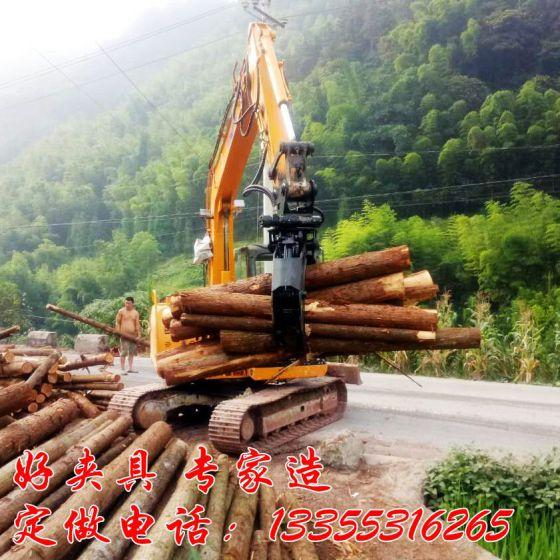 挖掘机抓木器 液压旋转抓石器 质量保证图片