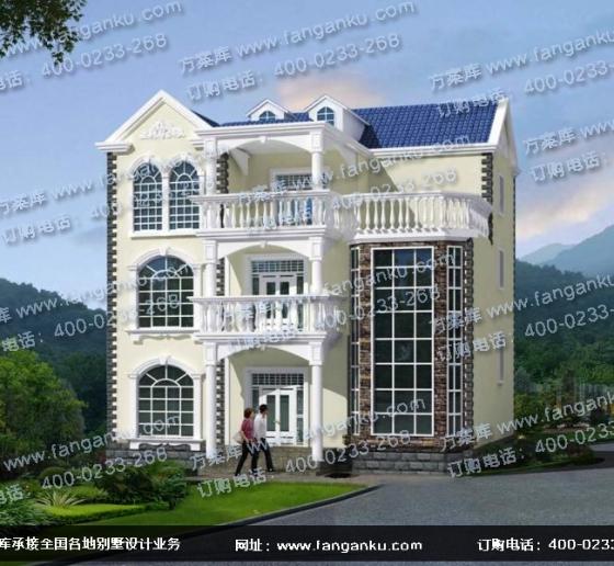 新农村三层房子设计 独栋欧式别墅设计图图片
