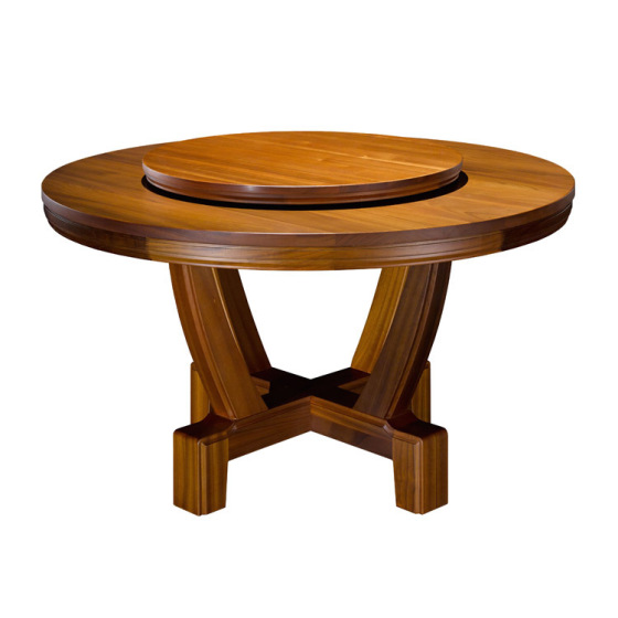 实木转盘餐桌|湘菜馆大圆桌定做首选众美德