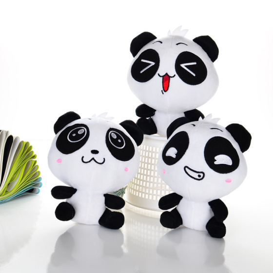 定制抓机布娃娃 黑白搞笑国宝熊猫公仔玩偶 毛绒玩具厂家批发定制