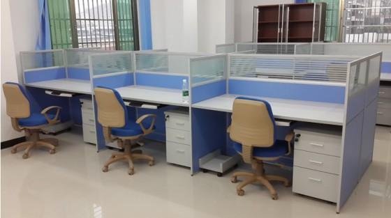 河南洛阳办公家具时尚屏风电脑桌职员办公桌图片,河南洛阳办公家具