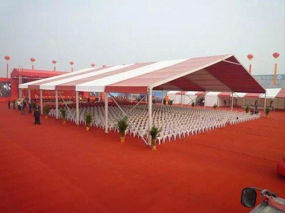 厂家直销车展15x60米 欧式篷房 尖顶篷 婚宴篷房 吊顶图片