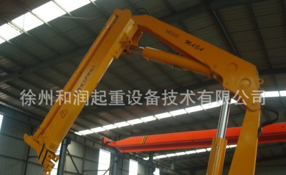 制造加工机械 起重设备 起重机械 液压起重设备,折臂随车起重机,和润图片