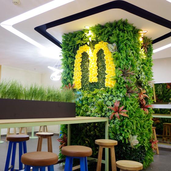 定做仿真植物墙 园林设计绿化绿植墙