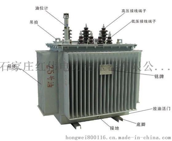石家庄红伟s11/80kva三相油浸式变压器全铜图片