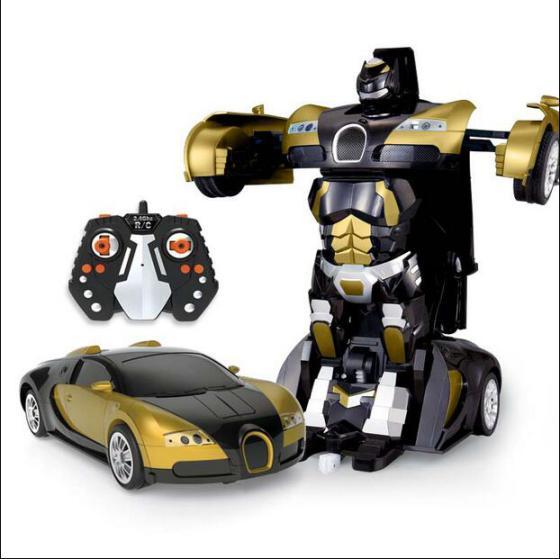 神手势感应一键变形金刚4擎天柱大黄蜂儿童玩具遥控汽车机器人变身高清图片