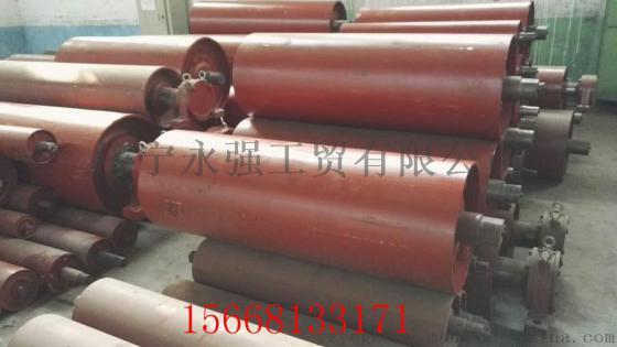 山东生产矿用1250*1600mm包胶阻燃传动滚筒