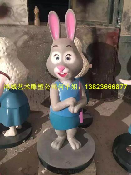 零售疯狂动物城系列卡通雕塑厂家