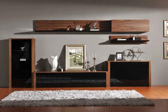 锐意美家 北欧现代风格电视柜 胡桃木电视柜 简约时尚