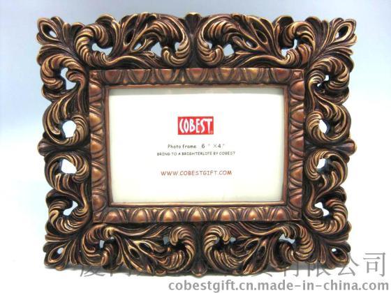 欧式相框仿古式框架 树脂古典相框 卧室装饰 相框批发图片